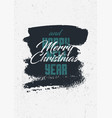 calligraphic retro christmas greeting card design vector image vector image