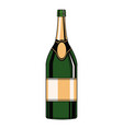 champagne bottle pop art vector image vector image