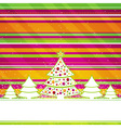 christmas card with forest of pine vector image vector image