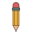 colorful silhouette of pencil with eraser vector image vector image