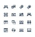 communication smart technologies icon set vector image vector image