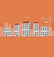 concept city construction buildings vector image vector image