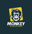 cool monkey logo design