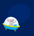 cute elephant animal astronaut spaceman character vector image vector image