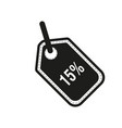 discount fifteen 15 percent circular icon vector image vector image