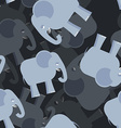Elephant seamless pattern 3d background of vector image vector image