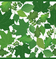 Floral leaves pattern leaf seamless background vector image