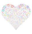 gauge fireworks heart vector image vector image
