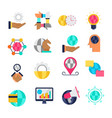 global business flat icons vector image