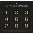 Gold Numbers vector image vector image