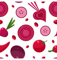 healthy food seamless pattern can be used fabric vector image vector image