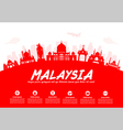 Malaysia Travel Landmarks vector image vector image