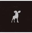 moose icon letterpress effect retro vector image