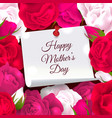 mothers day flowers frame vector image vector image