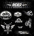 motorcycle vintage labels set of emblems vector image