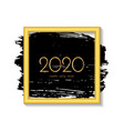 new year 2020 greeting card 2020 golden new year vector image vector image