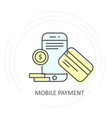 nfc wireless mobile payment icon - smartphone vector image vector image