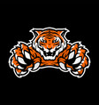 orange tiger sport gaming logo template vector image vector image