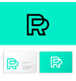 p and r logo linear monogram public relations vector image vector image