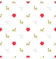 pattern with little red flowers vector image
