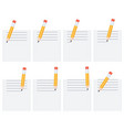 pencil drawing lines on sheet animation sprite vector image vector image
