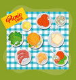 picnic time design vector image