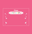pink background cute for children day vector image vector image