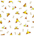 seamless pattern from yellow dog burrowing nora vector image