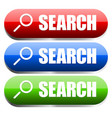search buttons in different colors vector image vector image