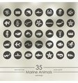 Set of marine animals icons vector image vector image