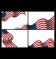 set usa banner background design vector image vector image