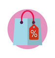 shop bag icon shopping packet pictogram sale vector image vector image