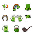 st patrick s day icons collection vector image vector image