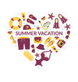 summer vacation banner template summertime vector image