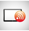 tablet technology icon wifi internet vector image