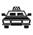 Taxi car icon simple style vector image