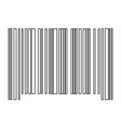 the barcode the black color icon vector image vector image