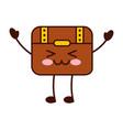 treasure chest game kawaii character vector image vector image