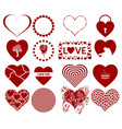 valentine heart set vector image