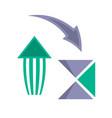 vintage arrows symbols in flat style vector image vector image