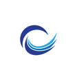 water wave symbol and icon logo template vector image vector image