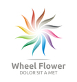 wheel flower interest colorful icon vector image vector image