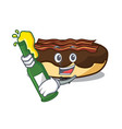 with beer maple bacon bar mascot cartoon vector image vector image