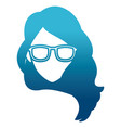 woman face with sunglasses vector image vector image