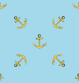 yellow anchor seamless pattern vector image