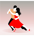young couple dancing vector image vector image