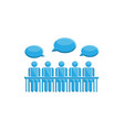 people in meeting communication symbol vector image