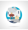 Kids at laboratory color detailed icon vector image