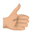 hand human with like gesture vector image