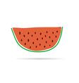 slice of watermelon cartoon vector image